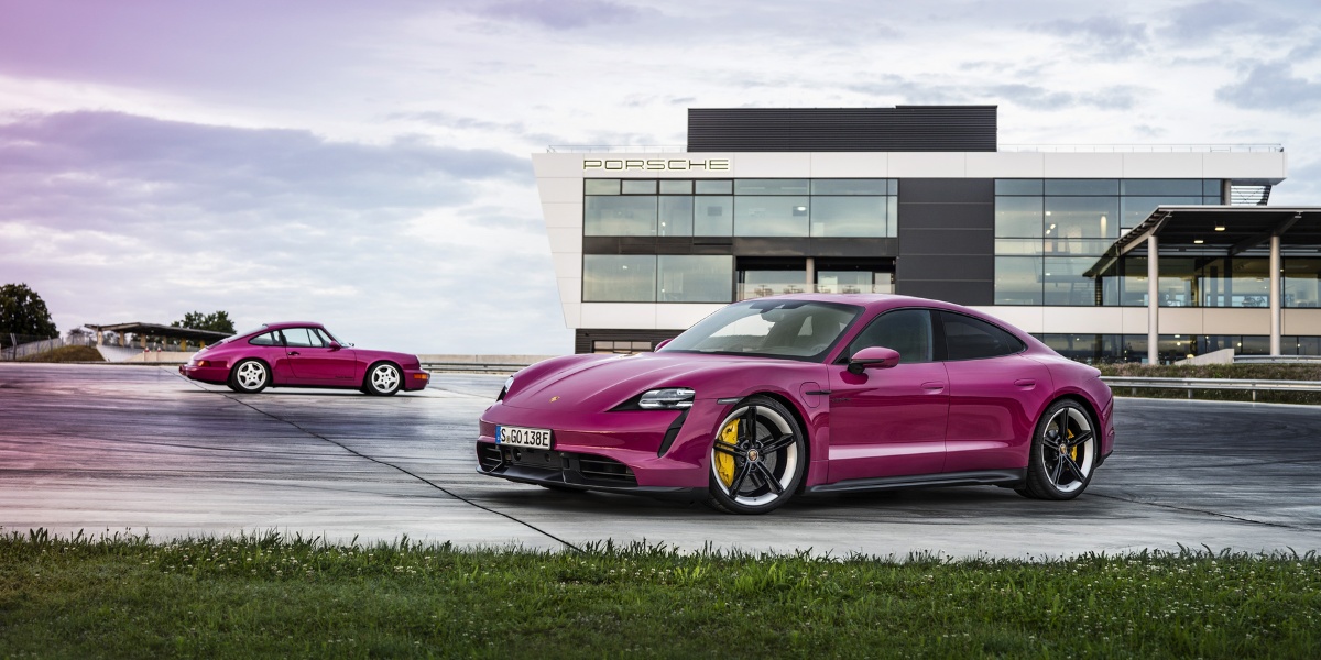 Purple Porsche Taycan