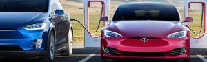 Tesla's at Tesla Supercharger