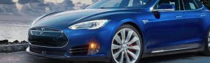 Blue Tesla Model S