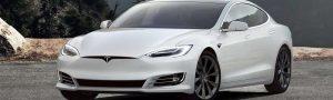 White Tesla