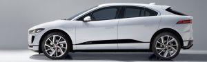 White Jaguar I-Pace side view