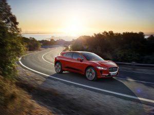 Red Jaguar I-Pace