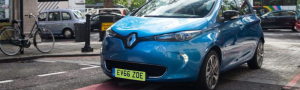 Green Licence Plate on Renault ZOE