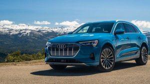 Blue Audi e-tron