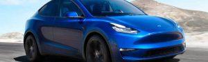 Blue Tesla Model Y