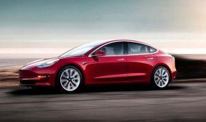 Red Tesla Model 3 Long Range