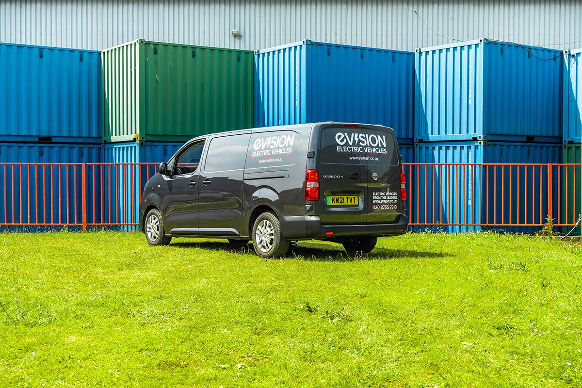Vauxhall Vivaro E Van Back Side