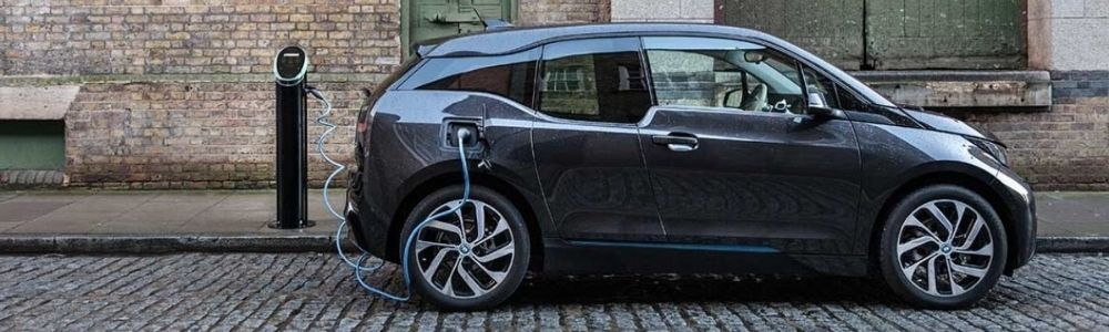 Electric car at home