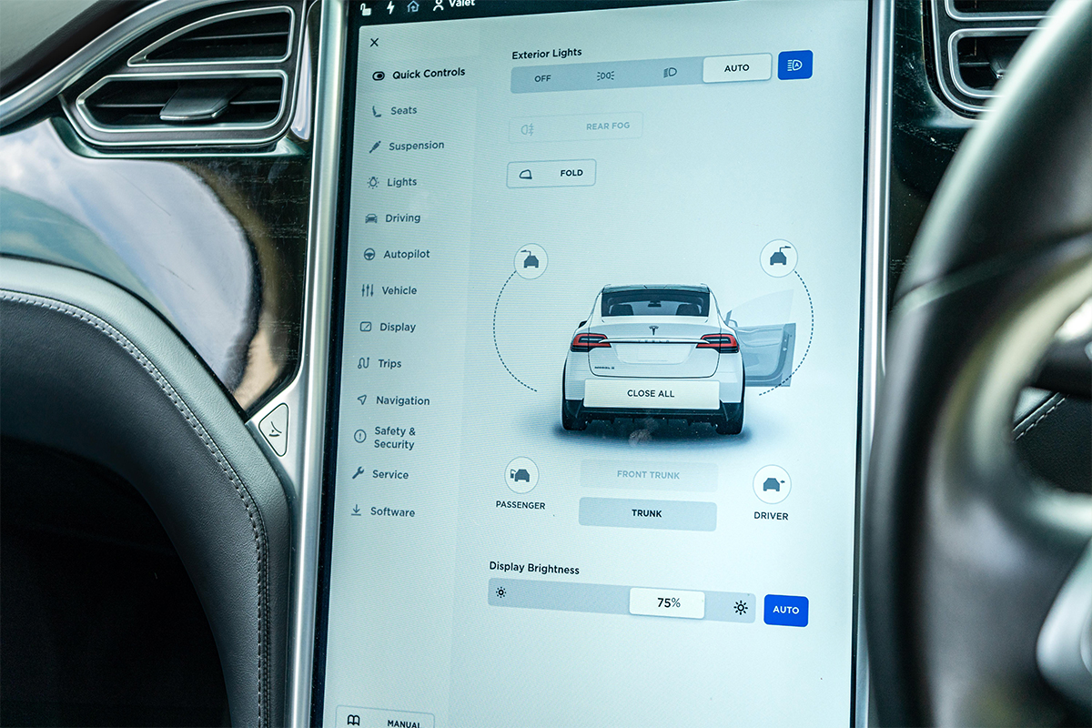Tesla Model X Screen