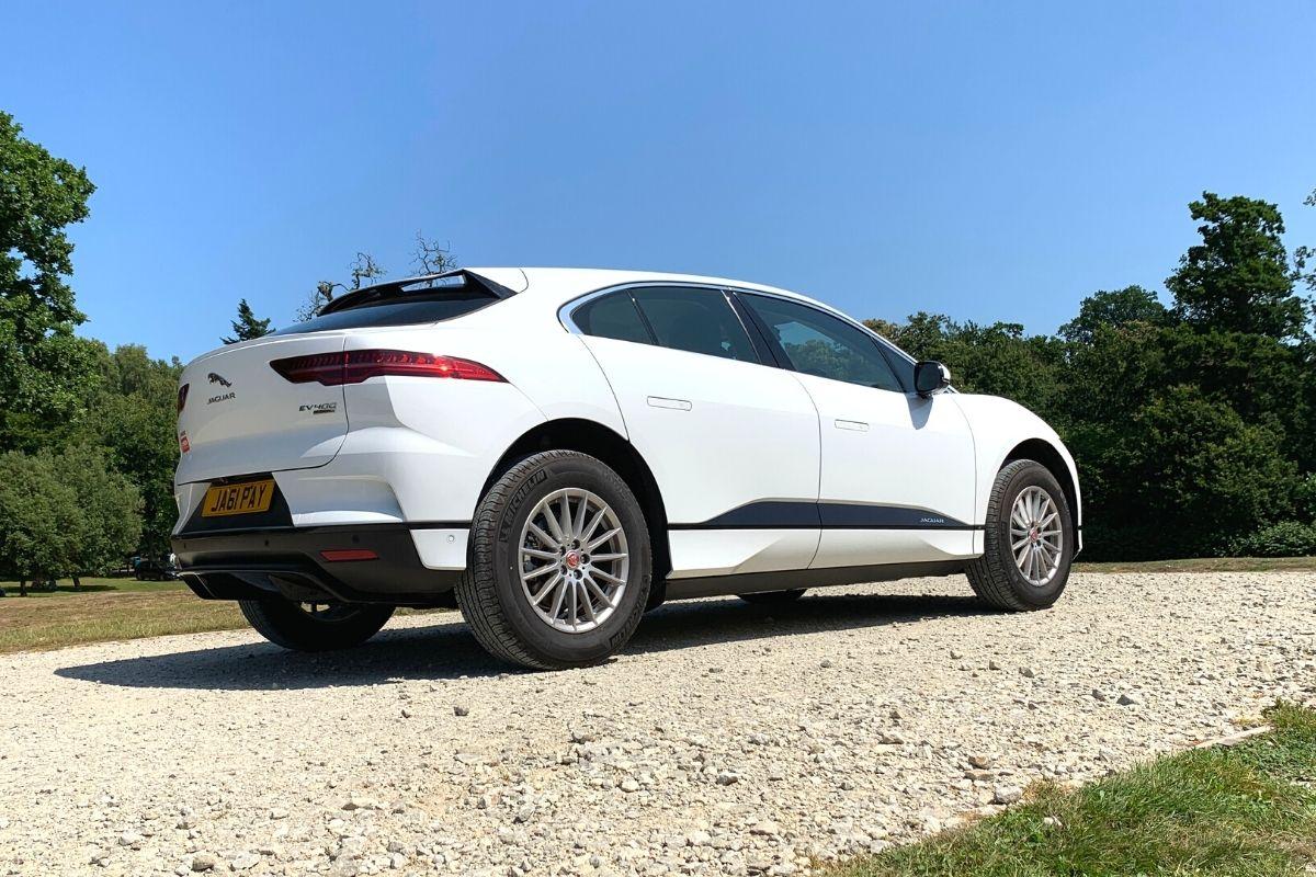 White Jaguar I-Pace